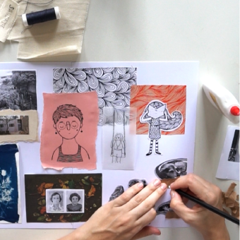 Colagem e ilustração